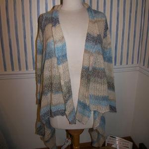 Love Stitch Flyaway Striped Cardigan Lg $98